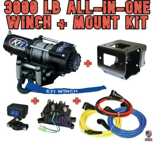 2004-15 Can Am Outlander 400 MAX Details about  /3000 LB KFI Winch//Mount Combo