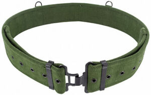 NEW-British-Army-Style-1958-58-Pattern-Heavy-Duty-Green-Canvas-Webbing-Belt