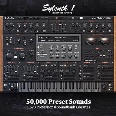 Huge 50,000 Preset Producer Archive 1,623 FULL Soundbank Libraries Sylenth