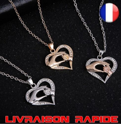 Mom Necklace Baby Heart Pendant Mother Girl Thread Child Family Love Jewelry