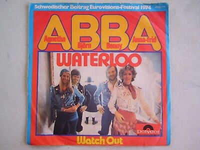 Abba Waterloo Wacth Out Vinyl Records Single LP Pop Watch Out 1974