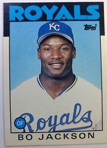 1986-86-Topps-Traded-Bo-Jackson-Rookie-RC-50T-Kansas-City-Royals