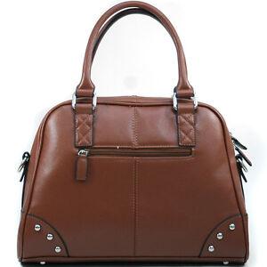 Dasein-A-Frame-Studded-Women-Leather-Satchel-Handbag-Shoulder-Bag-Purse