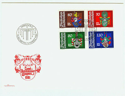 Liechtenstein Rational Liechtenstein Fdc Ersttagsbrief 1981 Wappen Der Landammänner Mi.-nr.743-46 Zu Den Ersten äHnlichen Produkten ZäHlen