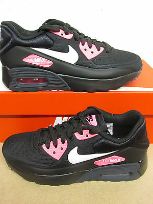 Details about Womans Nike Air Max 90 Ultra SE (GS) Trainers, UK 5, Black Pink. 844600 004.