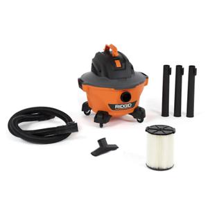 RIDGID 6 Gal. 3.5-Peak HP NXT Wet/Dry Shop Vacuum with Filter, Hose Accessories