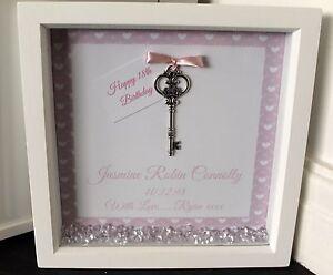 Personalised 20x20cm Box Frame Print 18th 21st Birthday Gift Present
