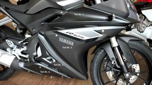 """ABS  /""""Verkleidung Seitenteil  rechts/"""" mattgrau Original Yamaha Yamaha YZF R125"""