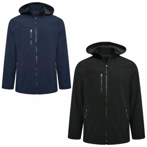 Mens Soft Shell Water Proof Zip Up Jacket Adults Long Sleeve Warm Winter Coat