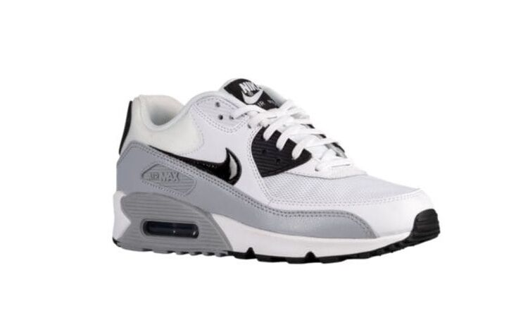NEW Women's Nike Air Max 90 White/Gray/Black Shoes Size: 5 Color: White/Gray/Black 90 19642b