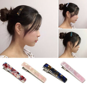 Geometric-Square-Girls-Hairgrips-Hairpin-Barrettes-Acrylic-Hair-Clips