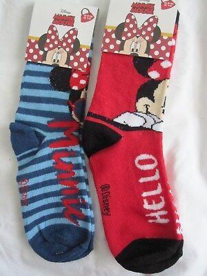 Disney Minnie Mouse Socks Size UK 9-12 Red