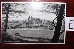 Carte Postale Vue Carte Saxe-anhalt Château Harnstein Dans Wettertal-afficher Le Titre D'origine