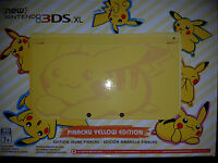 Nintendo 3ds Xl Pikachu Yellow Edition Game System Console |brand Sealed