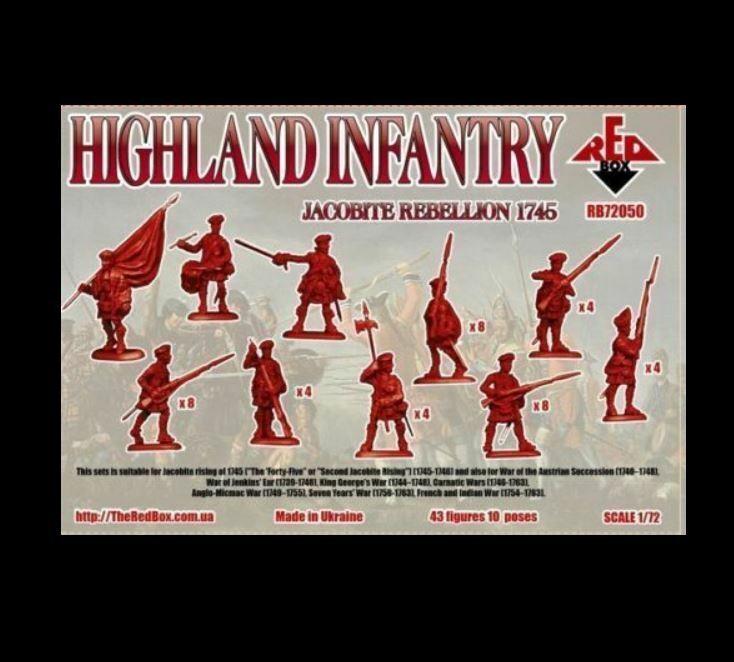 Red Box Models 1//72 JACOBITE REBELLON HIGHLAND INFANTRY 1745 Figure Set