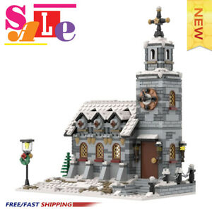 MOC-58208 little Winter Church Building Blocks Good Quality Bricks Toys