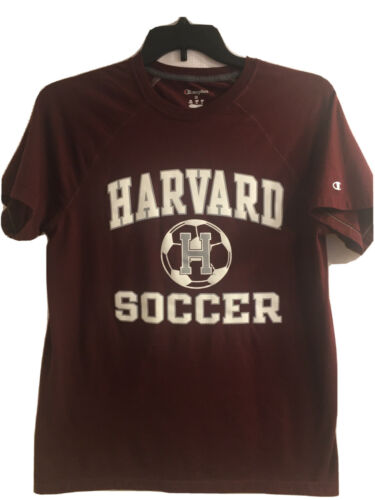 Harvard Soccer Maroon Champion T Shirt Size M Exce