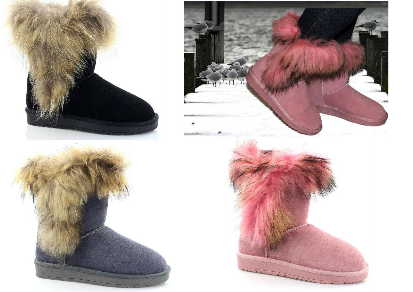 Women's Winter shoes Genuine Leather Boots Slip-On Boots Ankle Boots Snow