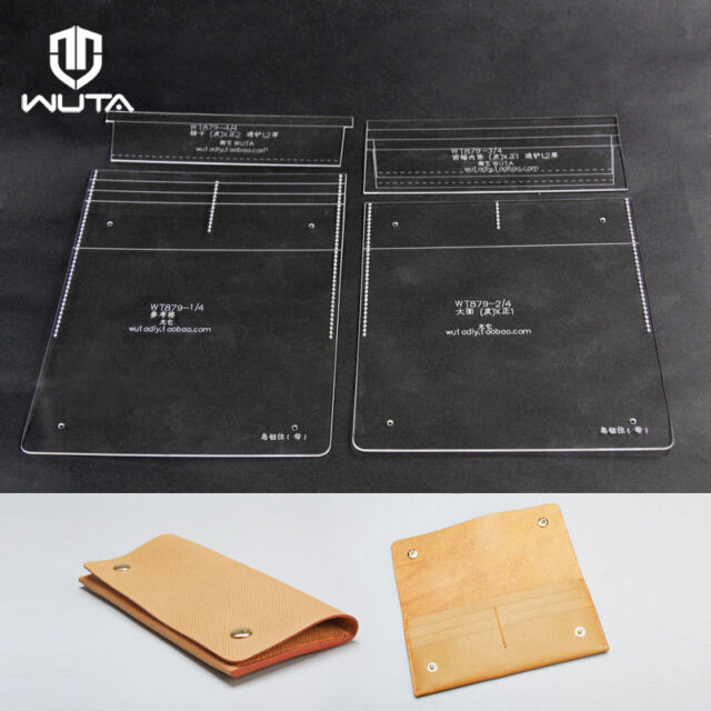 WUTA Leather Long Wallet Template Clear Acrylic Pattern Craft Tool 879