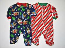 18de5c0814ea Faded Glory Infant Boys Blue Fleece Moose Sleeper Holiday Pajamas