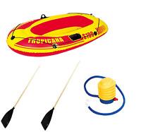 Tropicana Premium 100 Boat Set Inflatable Raft Dinghy W/ Oars Pump Various Sizes