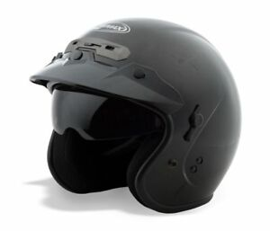 GMAX GM32 Black Open Face Motorcycle Helmet with Integrated Flip ... c3665ddbf19