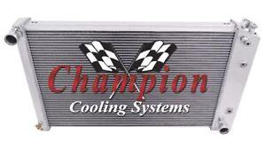"CHAMPION 3 ROW ALUMINUM RADIATOR 1970-1981 CHEVY CAMARO MANY GM CARS 26/"" CORE"
