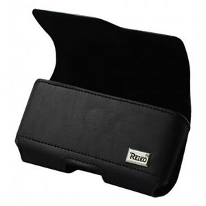 Leather-Black-Belt-Clip-Case-Pouch-for-Phones-fit-WITH-Otterbox-or-Case