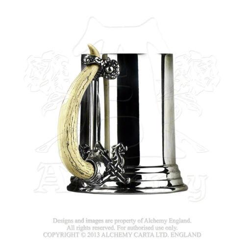 Alchemy Gothic Pewter Viking Horn Pint Tankard Stein