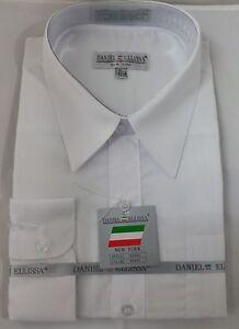 New daniel ellissa mens fashion dress shirt white ds3001 for Daniel ellissa men s dress shirts