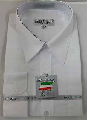 Ds3001 Easy To Repair Tireless Nuovo Daniel Ellissa Alla Moda Da Uomo Camicia Bianco