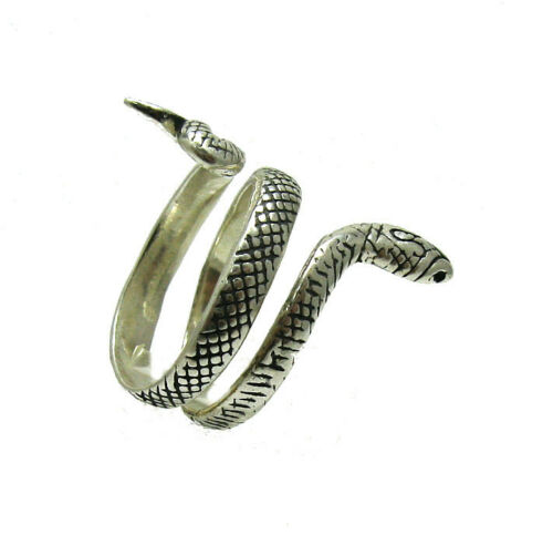 Sterling Silver Ring Solid Hallmarked 925 Snake Handmade R001325 Empress
