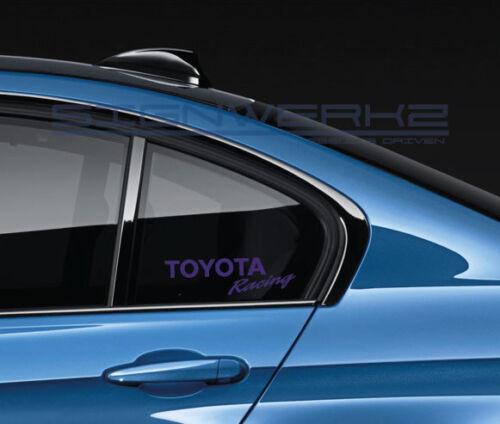 Toyota Racing Decal Sticker JDM FRS AE86 Celica Supra Tacoma Tundra Pair