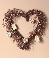 Country Hearts Wreath, New, Free Shipping on Sale