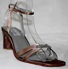 """DYEABLES """"Glory"""" Formal Wedding Prom Shoes Satin Golden-Brown Size 8.5M NEW!"""
