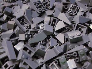 50-Lego-Sloped-Bricks-DK-BLUISH-GRAY-SLOPES-Roof-Wedges-Castle-Parts-Pieces-Lot