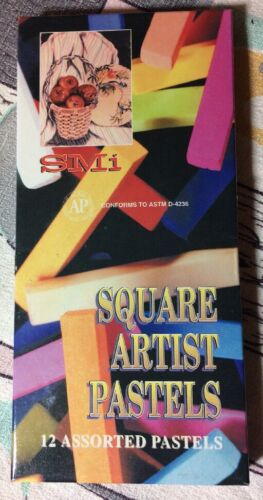 SMi Square Artist Pastels Box Of 12 Assorted Colors #4112