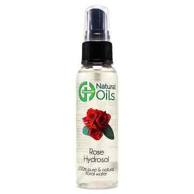 2 fl oz Rose Floral Water (Hydrosol) w/ Black Spray Cap