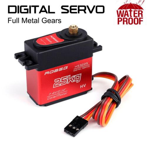 HS3225 180 Degree Digital RC Servo 25KG Torque Waterproof Metal RC Servo Motor A