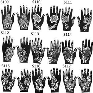ep 2pc henna stencil temporary hand arm tattoo body art sticker
