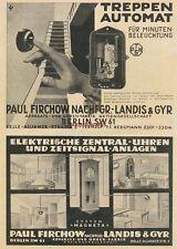 Werbung Anzeige Treppen-Automat, Zentral-Uhren - Paul Firchow, Berlin - 1929