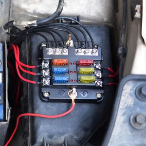 Car 6 Way Circuit Standard Atc Ato Led Fuse Box Block Holder Dc 32v
