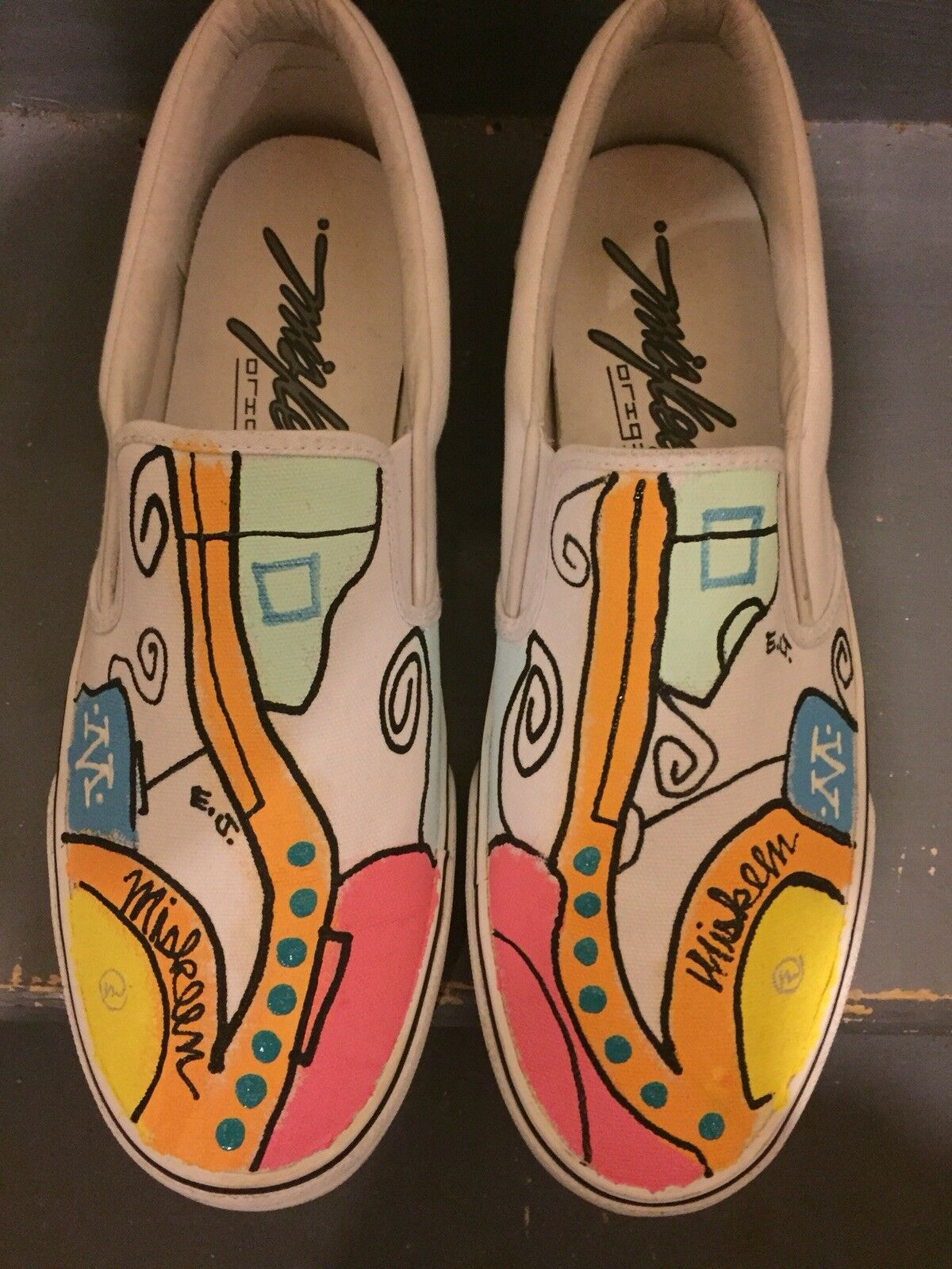 Miskeen Original Hand Painted Slip On shoes - RARE Number 3 of 10