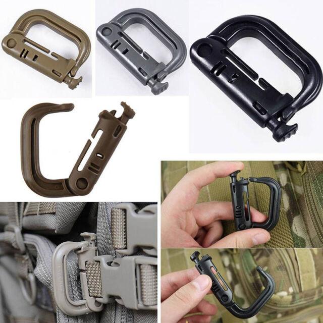 EDC Carabiner Shackle Tactical Molle Backpack Snap Hook D-ring Clip KeyRing MJA