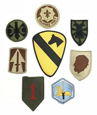 8 Us Army Military Airforce La Raccolta Assorted Mix Uniform Patch Ricamate Patch-