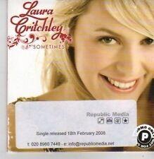 (AZ99) Laura Critchley,  Sometimes I - DJ CD