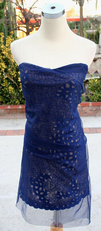 NWT BCBG MAX AZRIA RUNWAY  MAYAN Blau Prom Dress 10