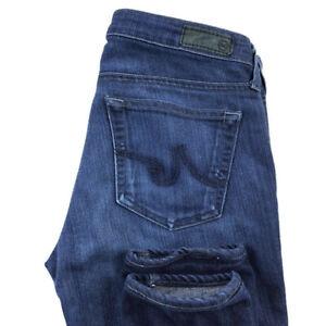 AG-Adriano-Goldschmied-Womens-27-The-Stilt-Cigarette-Leg-Dark-Wash-Jeans