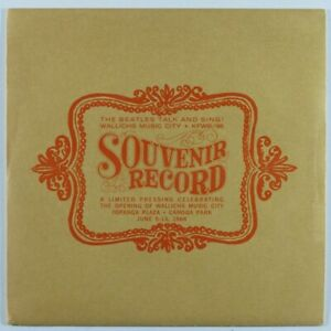 Rock-45-BEATLES-Talk-And-Sing-Souvenir-Record-CAPITOL-SEALED-picture-sleeve