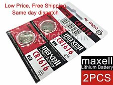 2x Maxell CR1616 1616 3V cell coin button watch battery Made in Japan Ed 12-2027
